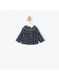 Flowers printed baby's blouse