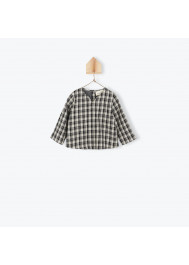 Bicolor gingham baby's tunic