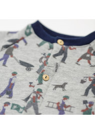 Bricoleurs pattern fleece baby's jumpsuit