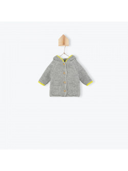Heather grey knitted baby's coat