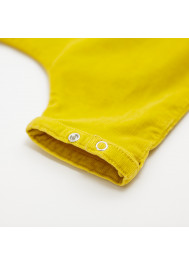 Saffron velvet baby's pant