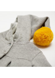 Heather grey fleece baby's jacket