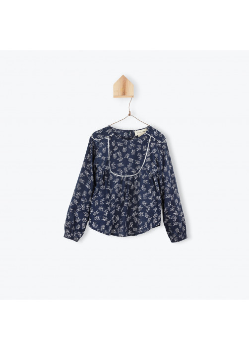 Flowers printed girl's blouse