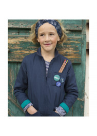 Navy blue children's jumpsuit