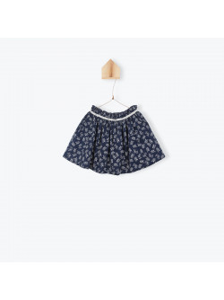 Flowers printed girl's skirt