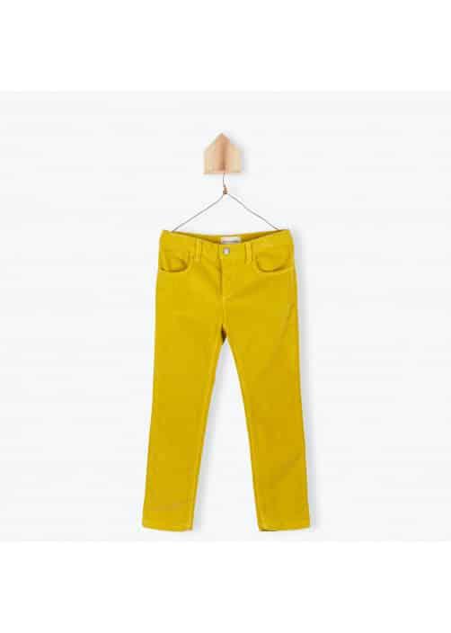 Pantalon velours fin safran
