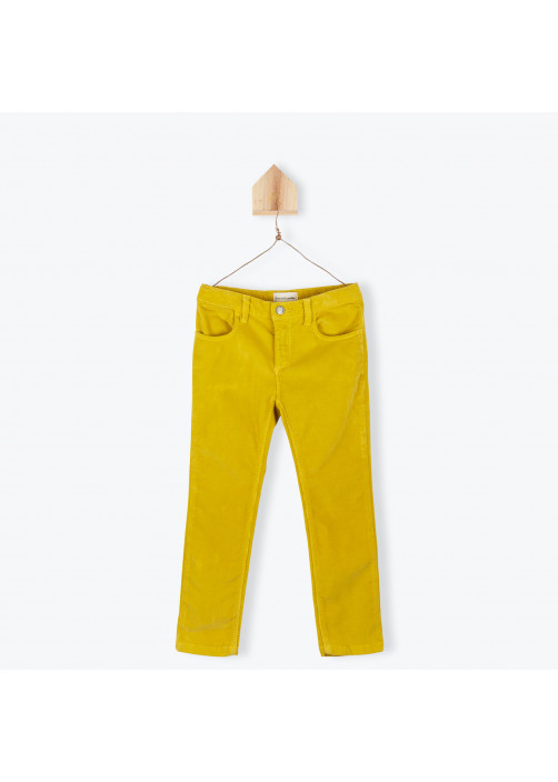 Saffron velvet children's pant