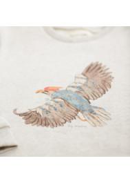 Beige printed children's sweater