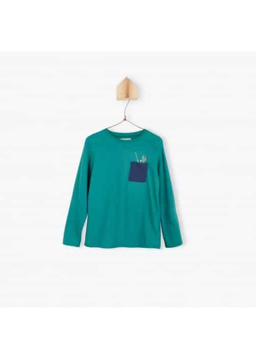 Green jersey boy's T-shirt