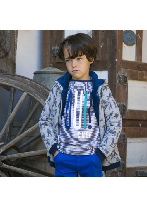 Striped navy blue boy's T-shirt