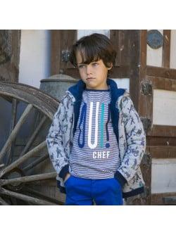 Striped navy blue boy's T-shirt