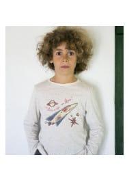 Off-white jersey boy's T-shirt