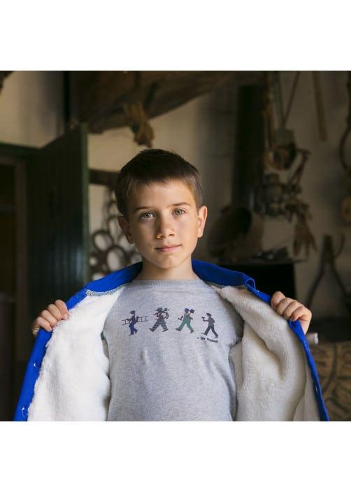 Heather grey jersey boy's T-shirt