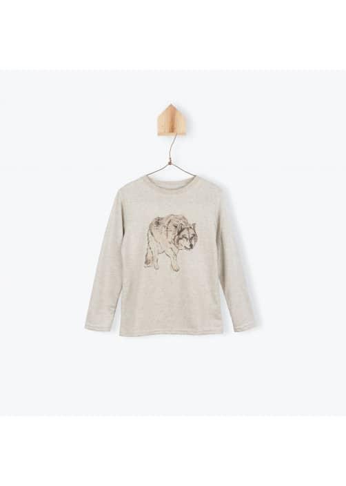 T-shirt chiné Loup