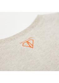 Beige jersey printed boy's T-shirt