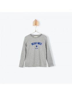 Heather grey printed boy's T-shirt