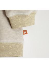 Beige fleece and lurex girl's sweater