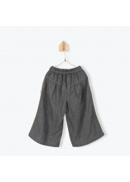 Anthracite velvet girl's pant skirt