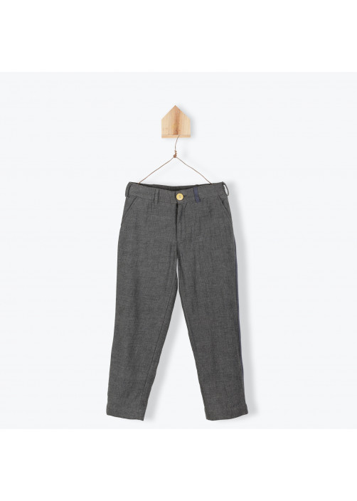 Pantalon tweed anthracite