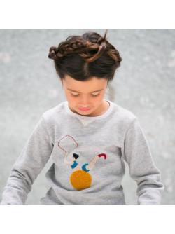 Heather grey fleece girl's sweater