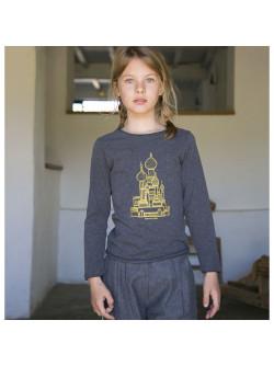 T-shirt fille st basile dorée