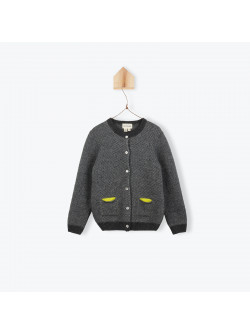 Anthracite grey girl's cardigan