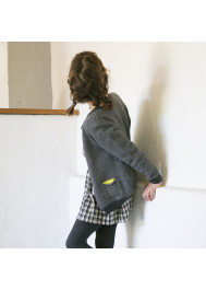 Anthracite grey girl's cardigan