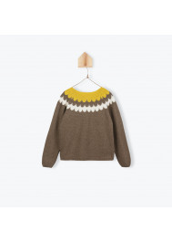 Bicolor kintted girl's cardigan