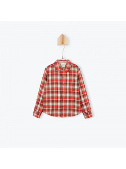Reversible bicolor boy's shirt