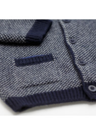 Navy blue knitted boy's cardigan