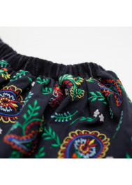 Multicolor embroidered girl's skirt