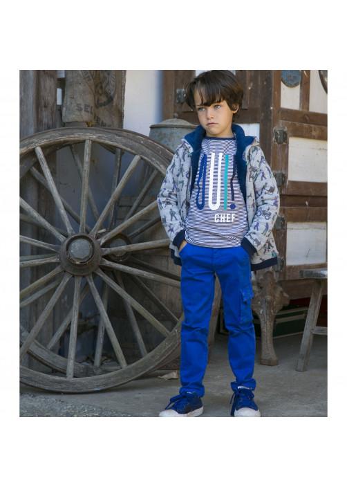 Pantalon cargo bleu cobalt