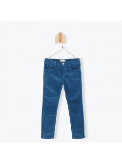 Petrol blue velvet children's pant