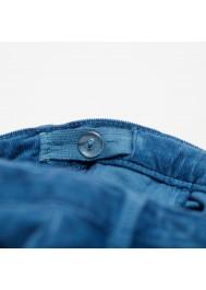 Petrol blue velvet children's pant