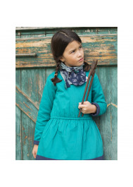 Bicolor fleece girl's dress