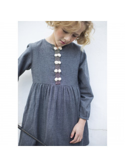Anthracite grey girl's dress
