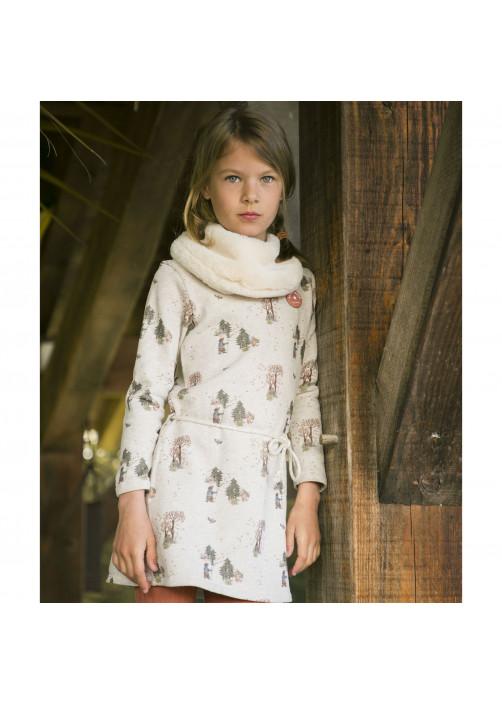 Forest pattern girl's dress