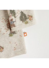 Robe molleton imprimée Forêt