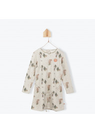 Forest pattern girl's dress