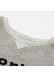 Heather grey embroidered sweater