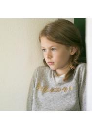 Heather grey girl's sweater Brillantissime
