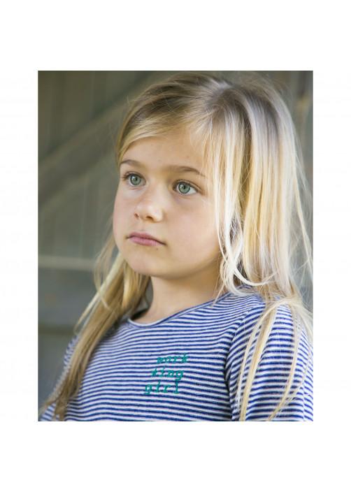 Blue striped girl's T-shirt