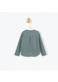 Green gingham pattern boy's shirt