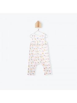 Circus print baby's jumpsuit