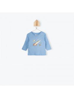 Sky blue jersey baby boy's T-shirt