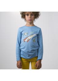 Sky blue jersey boy's T-shirt