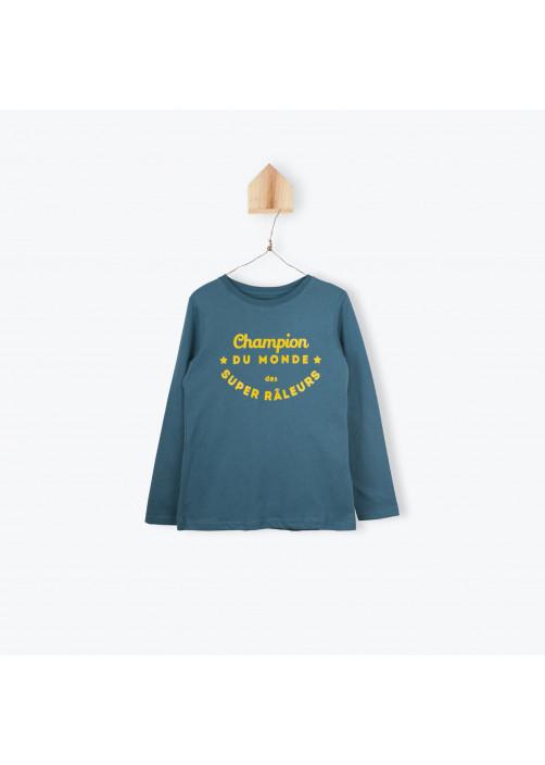 Petrol blue jersey boy's T-shirt