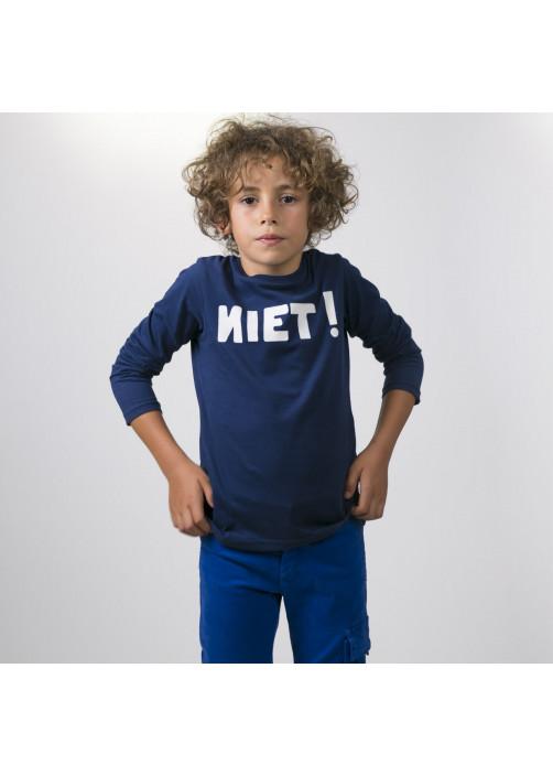 Navy blue jersey boy's T-shirt