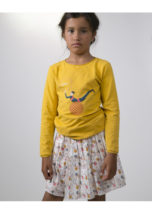 Saffron yellow girl's T-shirt