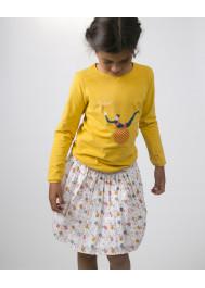 Saffron yellow girl's T-shirt